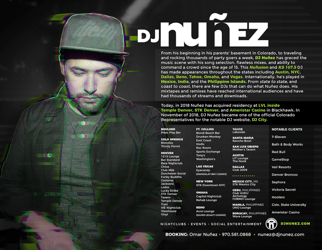 dj nunez press kit 2018